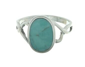 Misty Soul Ring, Sterling Silver Turquoise, 925, Boho, Gypsy, Festival Jewelry, Gemstone, Southwestern