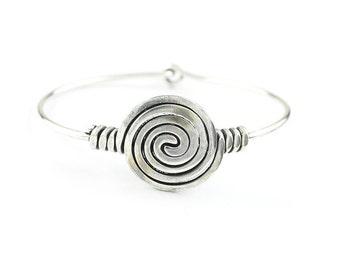 Spiral Journey Bracelet, Brass Bracelet, Festival Jewelry, Gypsy Jewelry, Boho