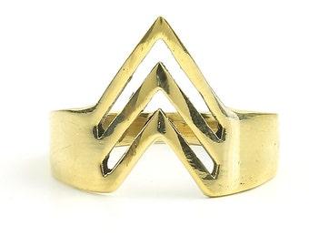 Bikaner Ring, Brass Geometric Ring, Minimal Ring, Modern Ring, Festival Jewelry, Gypsy Jewelry, Boho