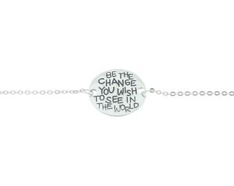 925 Sterling Silver  Bracelet, Inspirational Bracelet, Inspiration Jewelry, Quote Jewelry