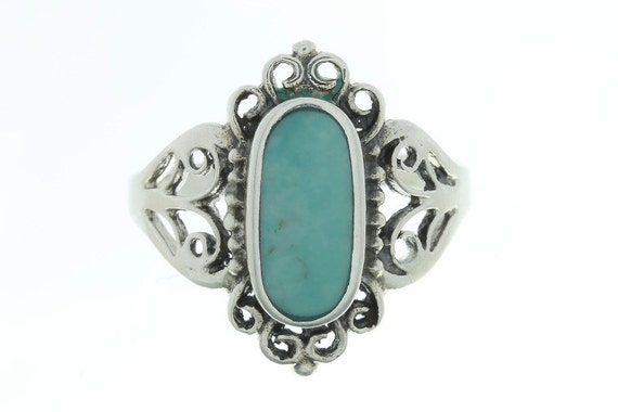 Turquoise Sky Ring, Sterling Silver Turquoise, 925, Boho, Gypsy, Festival Jewelry, Gemstone, Southwestern