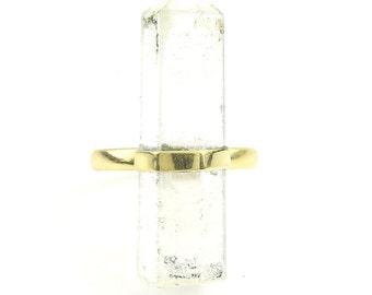 Crystal Ring, Brass Quartz Ring, Raw Crystal Ring, Stone Jewelry, Gemstone, Boho, Gypsy, Hippie Jewelry, Wiccan, Spiritual