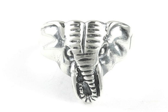 African Thunder Elephant Ring, Sterling Silver Elephant Ring, 925, Boho, Gypsy, Festival Jewelry, Good Luck Elephant, Animal Jewelry