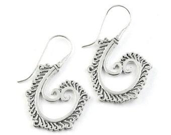 Moon Drop Earrings, Boho Jewelry, Tribal Earrings,  Festival Earrings, Gypsy Earrings, Ethnic Earrings, Hippie Jewelry