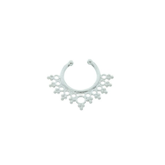 Faux septum ring, Fake septum ring, Faux nose ring, non pierced septum, Electric Love Faux Septum Ring