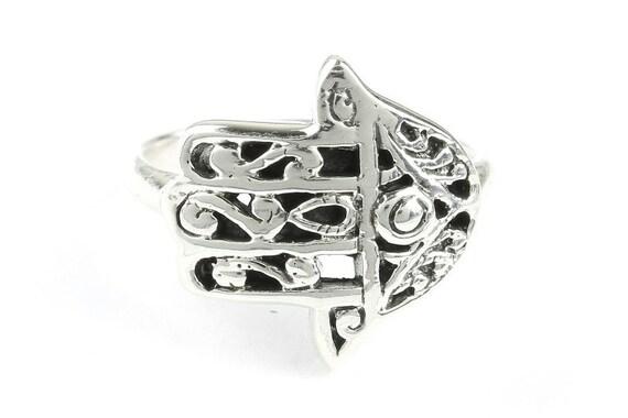 Hamsa Ring, Sterling Silver Ring, 925, Boho, Gypsy, Hand, of Fatima, Festival Jewelry, Hippie Jewelry, Spiritual