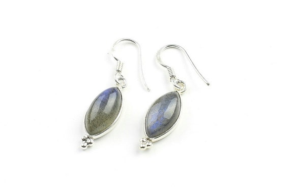 Sterling Silver Labradorite Earrings, Ethnic Earrings, Delicate Earrings, BOHO