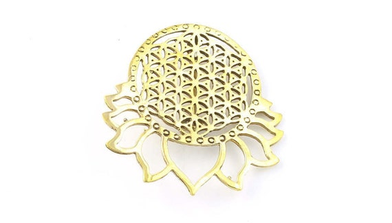 Sacred Geometry Pin, Hat Pin, Festival Wear, Festival Pins, Festival Jewelry, Flower of Life, Lotus