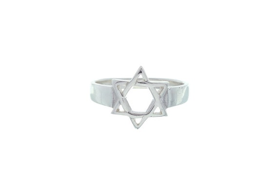 Star Of David Sterling Silver Ring, Sterling Silver Jewish Star Ring, Star Of David Jewelry, Religious Jewelry