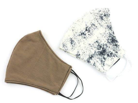 Cotton Face Mask, 2 PACK, USA shipping next day, washable face mask, reusable face mask, cotton fabric face mask, cloth,2 layer