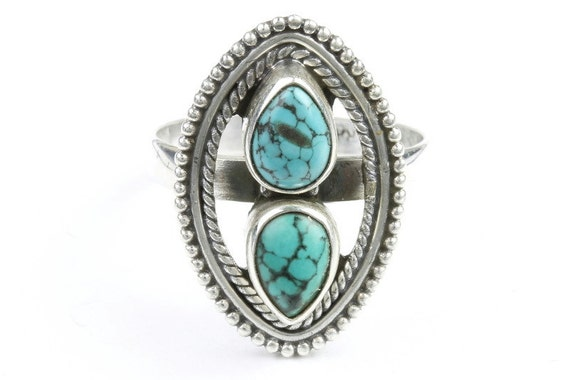 Insane Babe Ring, Sterling Silver Turquoise Ring, Stone Jewelry, Gemstone, Southwestern, Boho, Gypsy, Ethnic, Spiritual