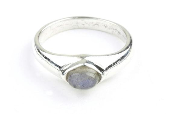 Dark Angel Ring, Sterling Silver Labradorite Ring, Gemstone, Crystal Jewelry, Boho, Gypsy, Wiccan, Minimalist, Stacking Ring, Spiritual,