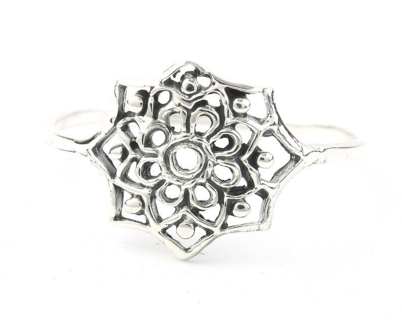Cosmic Moon Phases Ring Sterling Silver Moon Phases Ring Sun Ring Modern