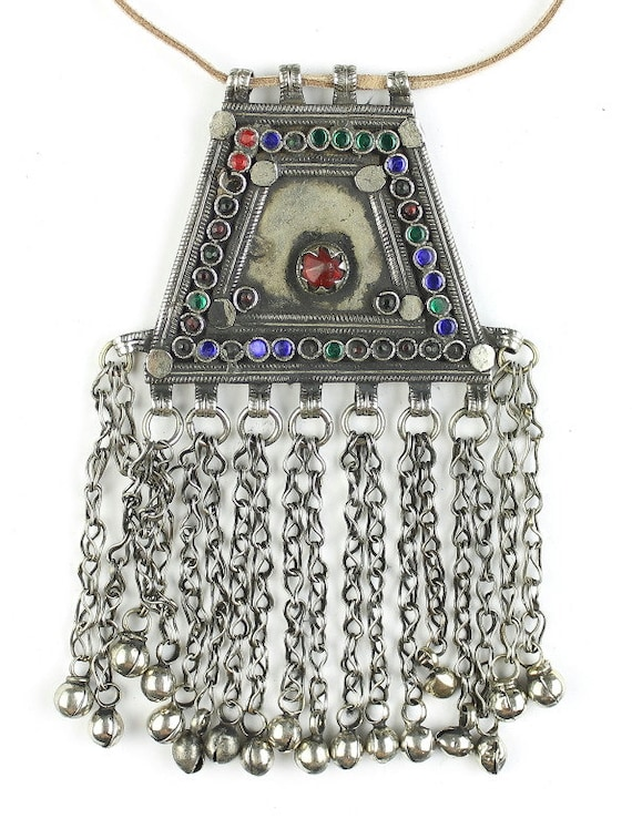 Kabul Afghan Necklace, Vintage Afghani, Middle Eastern Jewelry, Festival Jewelry, Tribal, Ethnic Necklace, BOHO, Gypsy, Hippie Jewelry