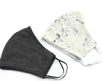 Handmade Face Mask, 2 PACK, , washable face mask, reusable face mask, cotton fabric face mask, cloth, comfortable fit, 2 layer