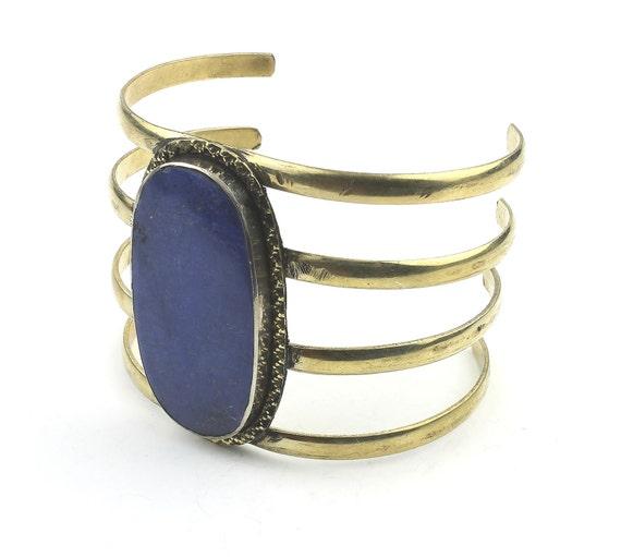 Lapis Cuff Bracelet, Afghani Arm Band, Vintage Bracelet, Middle Eastern, Festival, Tribal, Ethnic, BOHO, Gypsy, Gemstone Jewelry