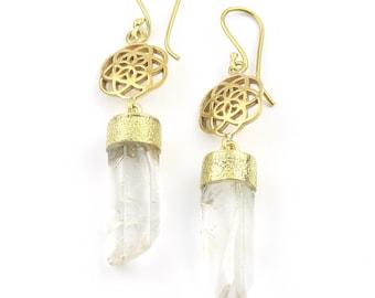 Seed Of Life Earrings, Sacred Geometry, Geometric Earrings, Alchemy Earrings, Modern Earrings, Festival, Gypsy Earrings, Ethnic,