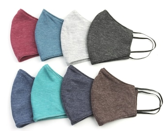 Kids Cotton Face Mask, Child, Washable, Reusable, Plain Color, Soft, Double layer, Face Cover, Cloth Mask, Solid Color, USA next day