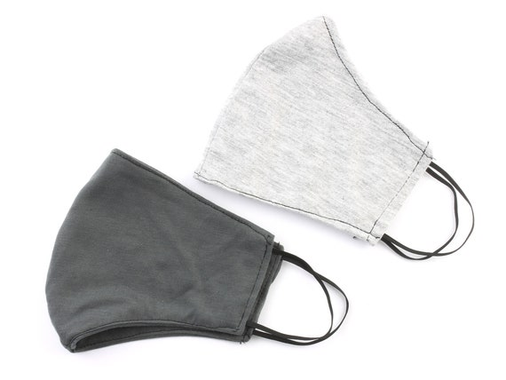 Cloth Face Mask, 2 PACK, USA shipping next day, washable, reusable face mask, cotton fabric face mask, comfortable fit, 2 layer