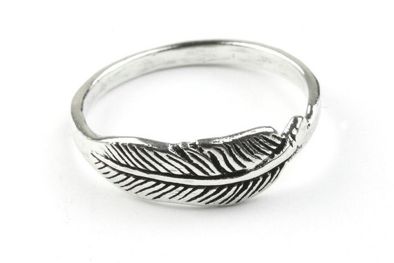 Sterling Silver Feather Ring, Western Ring, Festival, Spiritual, Boho Ring, Gypsy Ring