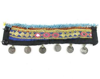Eastern Destiny Arm Band, Afghani Braclet, Vintage Cuff, Middle Eastern, Festival, Tribal, Ethnic, BOHO, Gypsy, Gemstone Jewelry