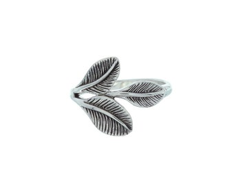 Sterling Silver Leaves Ring, Whispering Leaves Ring, Leaf ring, nature ring