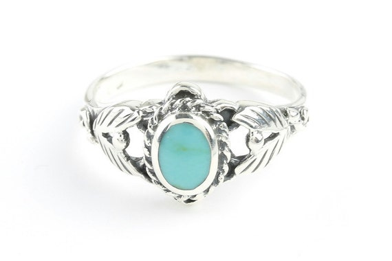 Turquoise Canyon Ring, Sterling Silver Turquoise ring, 925, Boho, Gypsy, Festival Jewelry, Gemstone, Southwestern Design