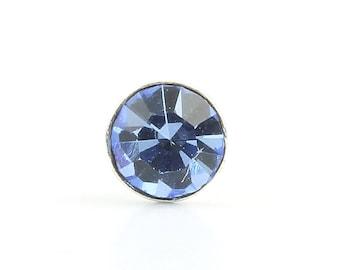 Blue Diamond Nose Pin, CZ Stone Nose Stud, Nose Jewelry, Nose stud, Boho, Bohemian, Gypsy, Festival Jewelry