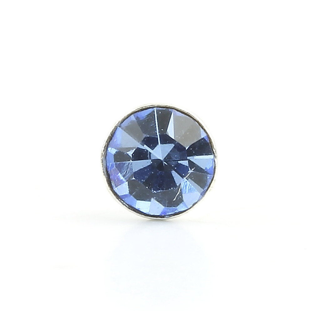 Blue Diamond Nose Pin Cz Stone Nose Stud Nose Jewelry Nose
