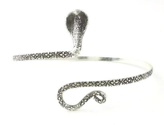 Snake Arm Band, Serpent Upper Arm Cuff, Armlet, Festival, Gypsy, Boho, Bohemian, Belly Dancer Jewelry, Hippie