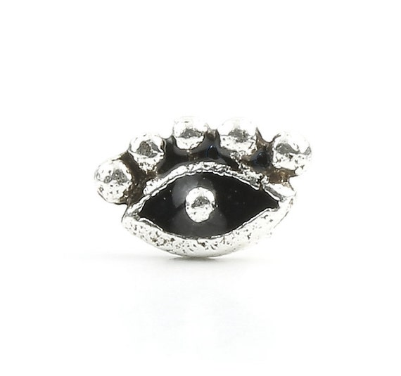 Eye Nose Stud, Sterling Silver Nose Pin, Evil Eye, Nose Jewelry, Nose stud, Boho, Bohemian, Gypsy, Festival Jewelry