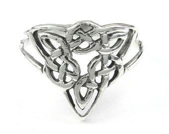 Sterling Silver Celtic Knot Ring, Mystic Knot ring,  Endless Knot Ring, Trinity Knot Ring, Irish, Boho Ring, Gypsy Ring