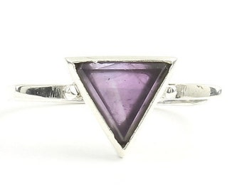 Enlightened Ring, Sterling Silver Amethyst Ring, Purple Amethyst , Stone Jewelry, Cosmic, Gemstone, Boho, Gypsy, Wiccan, Hippie, Spiritual