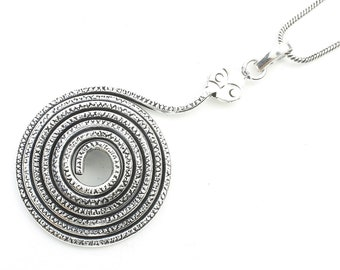 Snake Necklace, Spiral Snake Necklace, Festival Jewelry, Boho, Bohemian, Gypsy, Hippie, Spiritual