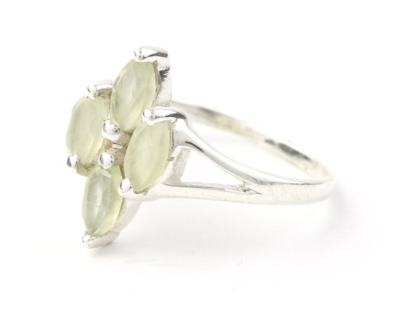 Nicos Ring, Sterling Silver Prehnite Ring, Statement Piece, Festival Jewelry, Boho, Gypsy, Hippie, Spiritual
