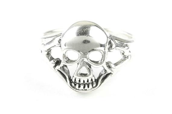Silver Skull Ring, Sterling Silver Ring, 925, Skeleton Ring, Bones, Biker, Boho, Gypsy, Wiccan, Festival Jewelry, Spiritual
