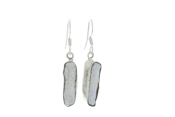 Sterling Silver Shell Earrings, Sea Shell Earrings, Indian Earrings, Ethnic Earrings