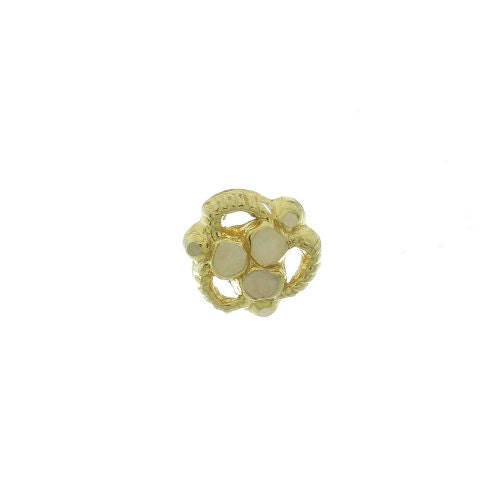 18 Karat Gold Nose Jewelry 18kt Gold Nose Ring India Nose Jewelry