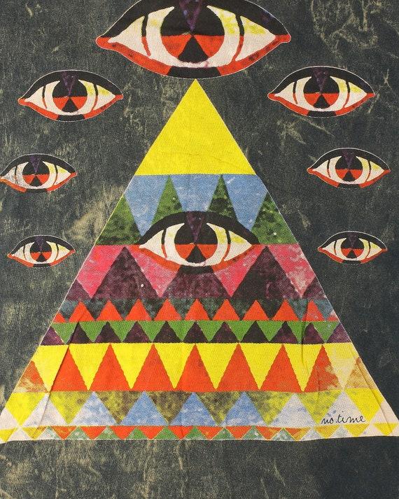 The All Seeing Pyramid Eye Tank Dress, Festival Wear, Nature, Boho, Bohemian, Hippie Clothes, Yoga, Meditation, Spiritual, Gypsy
