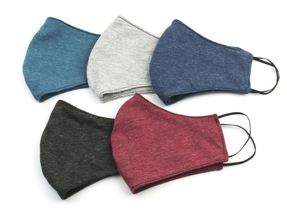 Cotton Washable Face Mask, Reusable, Plain Color, Reversible, Double layer, Face Cover, Cloth Mask, Solid Color, Fabric, USA next day Ship
