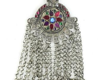 Pakistani Princess Necklace, Vintage Afghani, Middle Eastern Jewelry, Festival Jewelry, Tribal, Ethnic Necklace, BOHO, Gypsy, Hippie Jewelry