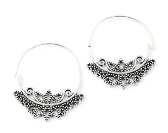 Victorian Hoop Earrings, Boho, Bohemian, Brass, Festival, Gypsy, Ethnic Earrings, Modern, Contemporary, Eclectic, Statement Earrings