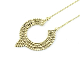 Sol Necklace, Brass Ethnic Penndant, Tribal, Yoga Jewelry, Festival Jewelry, Boho, Bohemian, Gypsy, Hippie, Spiritual