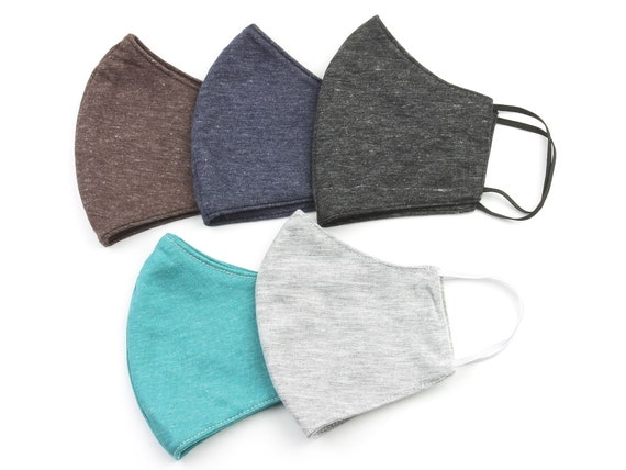 Cotton Face Mask, Solid Color, Washable, SUPER SOFT, Plain Color, Breathable, Reversible, Double layer, Face Cover, Cloth, Fabric, next day