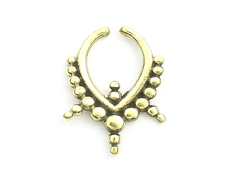 Fake Septum Ring Body Jewelry Faux Septum Ring Faux Nose Ring Non Pierced Septum Triangle Septum Ring Modern,Tribal