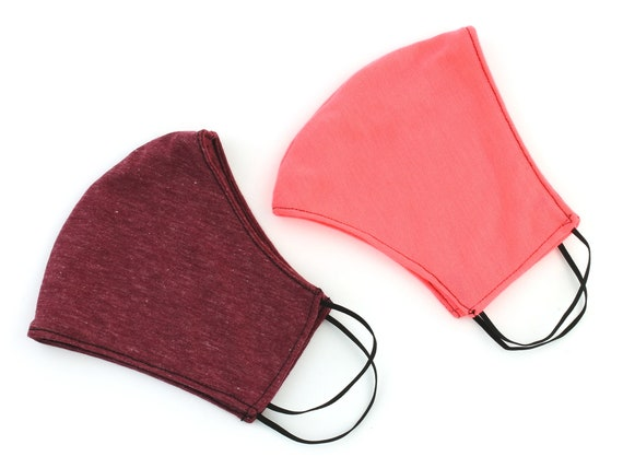 Pink Face Mask, 2 PACK, USA shipping next day, washable face mask, reusable face mask, cotton fabric face mask, cloth, 2 layer