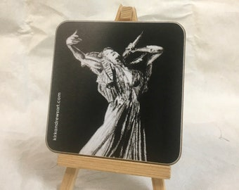 Florence Welch Coaster - Printed from Original Charcoal Portrait - Free UK Delivery