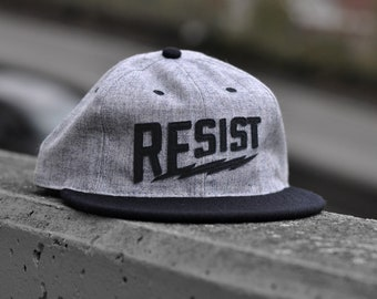 377690f039769 RESIST hat - Grey Black - Ebbets Field Flannels collab