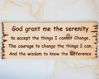 Serenity prayer sign