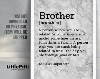 Funny Brother Quote Etsy